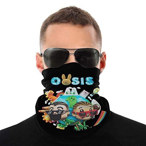 OMarcus Oasis Bad Bunny J Balvin Protección Facial Variedad Bufanda Pañuelo Pasamontañas Bufanda Bandana Polaina con 6 filtros