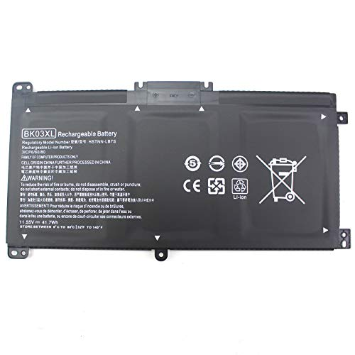 Angwel BK03XL Laptop Battery Compatible with HP Pavilion x360 14 14m 14-ba000 14m-ba000 14-ba036tx 14m-ba011dx HSTNN-LB7S HSTNN-UB7G 916366-421 916366-541[11.55V 41.7Wh]