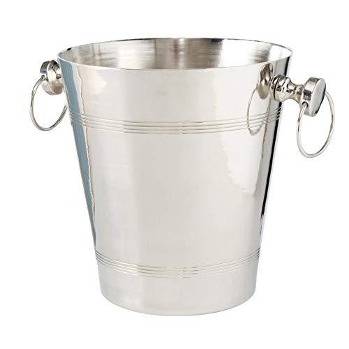 CasaJame Glacette elegante per spumante, altezza 24 x profondità 22 cm, in alluminio, colore: argento