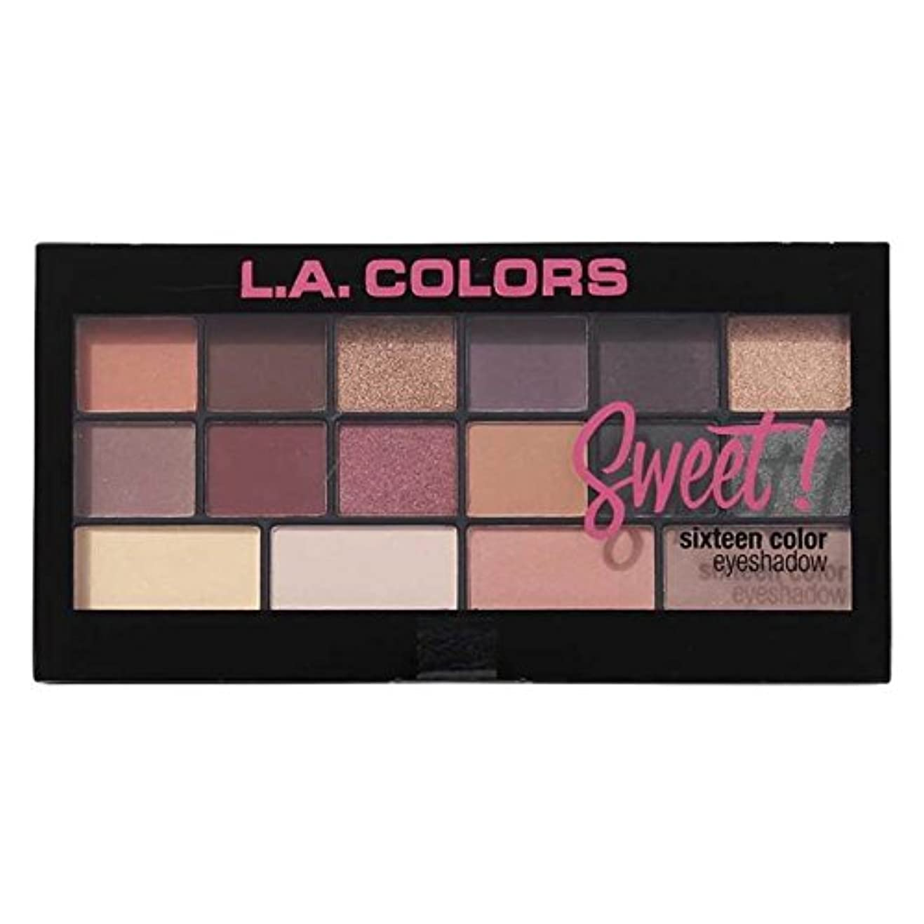 フルート野菜効果(3 Pack) L.A. Colors Sweet! 16 Color Eyeshadow Palette - Seductive (並行輸入品)