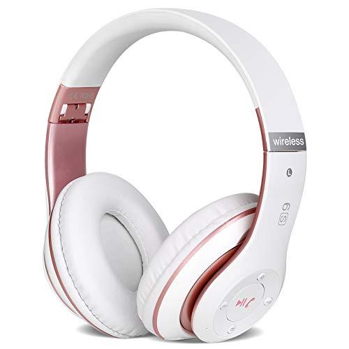 6S Casque Bluetooth sans Fil, écouteurs stéréo sans Fil stéréo Pliables Hi-FI Écouteurs avec Microphone intégré, Micro SD/TF, FM pour iPhone/Samsung/iPad/ios