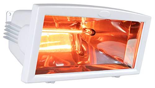Brubaker - Estufa eléctrica por infrarrojos IP54, 1300 W, color blanco