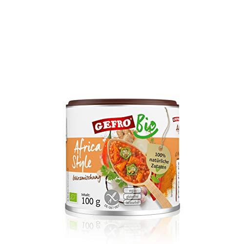 GEFRO BIO Africa Style zum Würzen und Verfeiern von Rohkost, Suppen und Fleisch (100g)