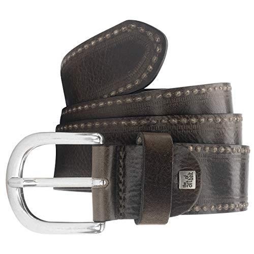 LINDENMANN The Art of Belt Ledergürtel Damen/Gürtel Damen, Rindleder, anthrazit, Farbe/Color:schwarz, Size US/EU:Waist Size 33.5 IN M EU 85 cm