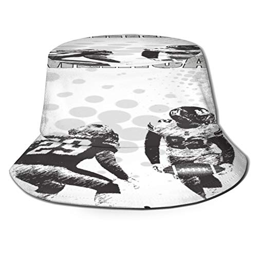 Sombrero Pescador Unisex,Deportes Grungy Fútbol americano Imagen Equipo internacional Copa del,Plegable Sombrero de Pesca Aire Libre Sombrero Bucket Hat para Excursionismo Cámping De Viaje Pescar