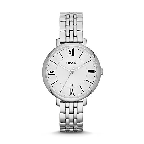 Fossil Women's Jacqueline Quartz Stainless Three-Hand Watch, Color: Silver (Model: ES3433)