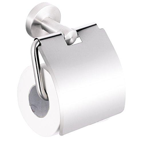 Smartweb WC Rollenhalter Toilettenpapierhalter Edelstahl Papierrollenhalter Wandmontage Bad Zubehör
