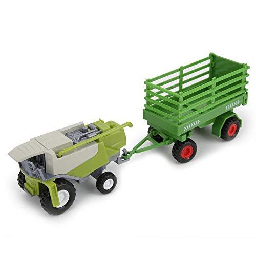 ZNYD Granja clásica del Coche del vehículo de Remolque agrícola Harvester cisternas de Transporte Camión Tractor Modelo Juguetes for niños Muchacho Oyuncak Regalo (Color : Verde)