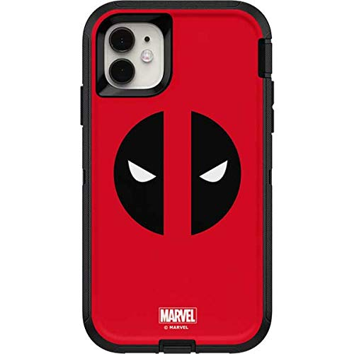Skinit Decal Skin Compatible with OtterBox Defender iPhone 11 Case - Officially Licensed Marvel/Disney Deadpool Logo Red Design