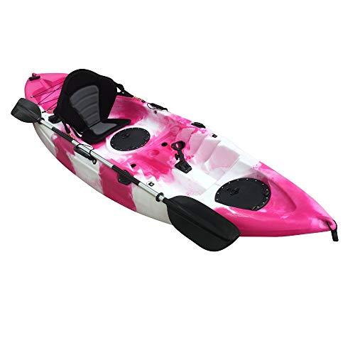 Cambridge Kayaks ES, Zander Rosado Y Blanco Solo Kayak DE Pesca Y Paseo, RIGIDO,