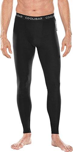 Coolibar UPF 50+ Men's Calasa Tech Swim Trunk Tights - Sun Protective (Medium- Black)