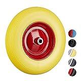ruota carriola piena o camera d'aria In gomma piena: ruota di gomma in poliuretano (PU) - ruota resistente alle intemperie con capacità di carico di 100 kg ca.