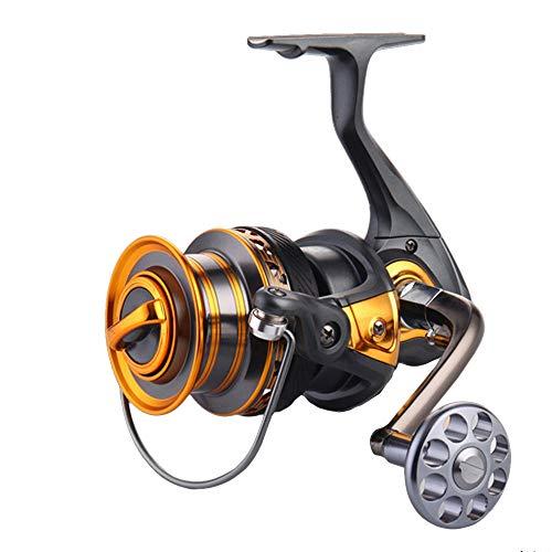 Cvthfyk Carrete Giratorio, Carrete de Pesca de Agua Dulce, rodamientos de Bolas de Acero, de Arrastre Suave, de Aluminio de Alta Capacidad (Color : 2000)