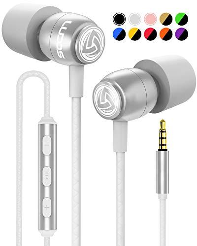 LUDOS Clamor Auriculares con Micrófono y Cable, Espuma de Memoria...