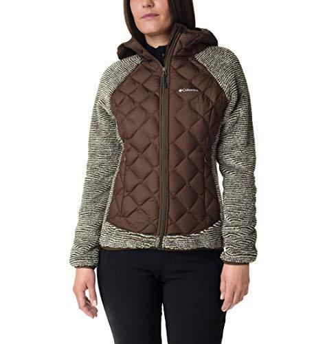 Columbia Damen Techy Hybrid Fleece-weste, Grün/Beige (Olive Green, Chalk Stripe), M