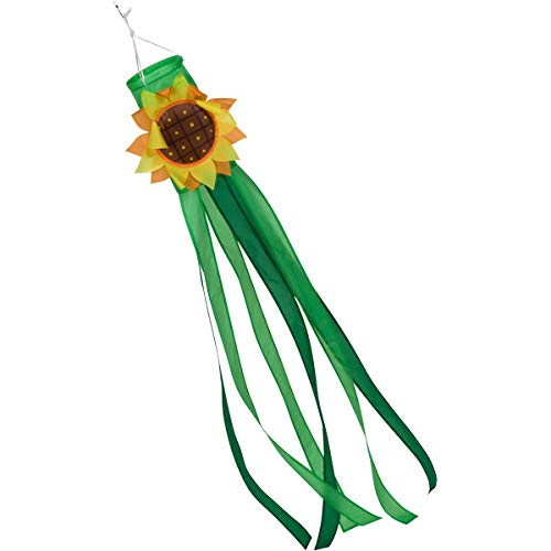 60-inch Sunflower 3D Windsock (5-feet) - Full-Sized - Spun Polyester Fabric — Includes swival Hanging Clip