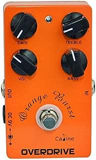 Caline USA orange burst overdrive effects pedal