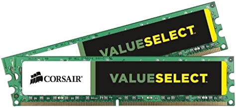Corsair CMV8GX3M2A1333C9 ValueSelect 8GB (2x4GB) DDR3-1333 (PC3-10666) 1.5V Desktop Memory
