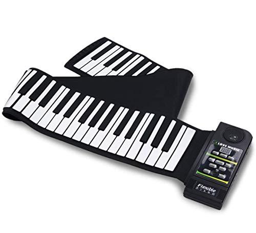 Lovinouse ロールピアノ 88鍵 電子ピアノ 電子キーボード ロールアップピアノ 折り畳み 持ち運び 128種類音色・リズム 14曲模範曲 フットペダル付き イヤホン 高音質スピーカー対応 子供/初心者/老人向けセット 編曲/練習/演奏/進学