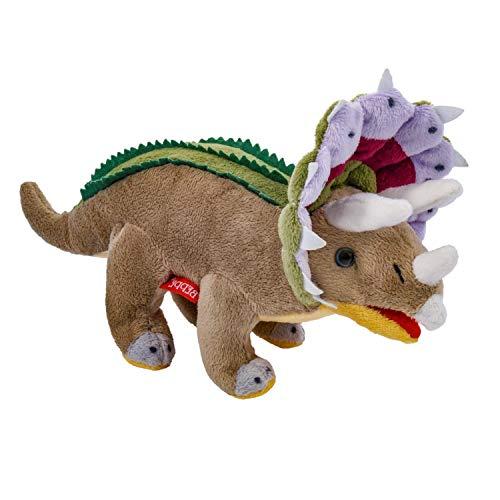 Beppe Triceratops Dino Saurier Plüschtier ideales Stofftier Geschenk Dinosaurier in bunten Farben niedliches Kuscheltier für Kinder und Baby Plüschkissen Tier Kissen Auflage