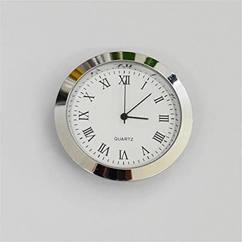 NUJA 1pc Reloj Impermeable Universal Chrome Bici de la Motocicleta del Montaje del Manillar de Aluminio Reloj Reloj de Cuarzo Reloj Luminoso Accesorios Motorcy (Color : Plata)