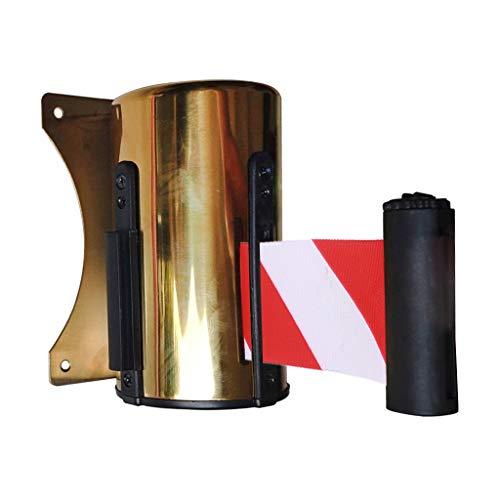 Separador Cinta Extensible/Retractable Belt Crowd Queue Control Barrier con Mounted Accessory 2/3/4/5 m - Rojo-Blanco, RW-5m