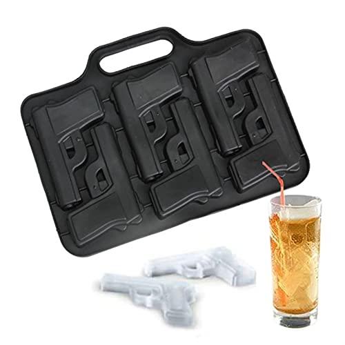 3D-pistoolvorm Siliconen Ijsblokje Mal, DIY Food Grade Silicone Ice Cube Maker Moules Gun En Bullet Ice Cube Trays Candy…