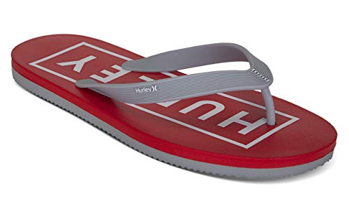 Hurley Chanclas para hombre One and Only 2.0 en caja, Gris (Wolf Grey/White-speed Red), 42 EU