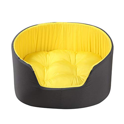 U/A Double Color Dog's Nest With Binding Edge Can Be Washed And Sent Cushion Pet's Nest Comfortable 3D Dog's Kennel