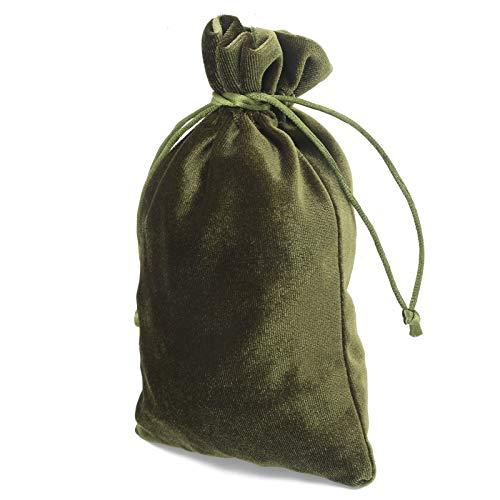 Sac de Corde de tirage de Poche de Corde, Stockage avec des Sacs de Bijoux de Sac de Bonbons de Corde pour la Rune(Moss Green)