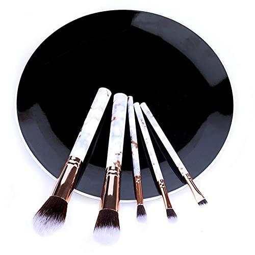 Conjunto de 5/10 peças de pincéis de maquiagem mármore para rosto, olhos, cosméticos, pó, base, sombra, cosméticos, sobrancelhas profissionais macias (tamanho : A)
