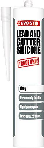 Evo-Stik 30812743 scambi, in Silicone e sigillante per grondaia, colore: grigio