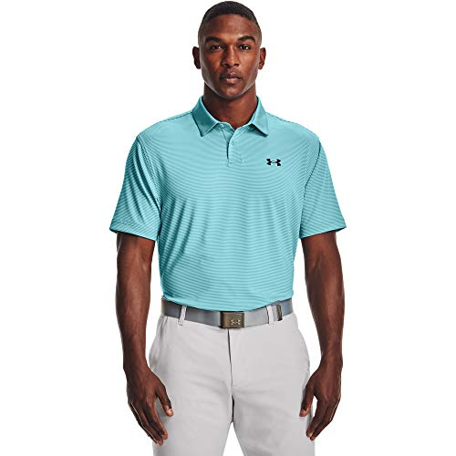 Under Armour Men's Performance Stripe Golf Polo , Cosmos (476)/Academy Blue , Medium