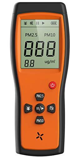 Monitor de calidad del aire Detector de calidad del aire Medidor profesional Pruebas precisas para PM2.5 / PM10 / Temperatura / Humedad Pantalla LCD P200