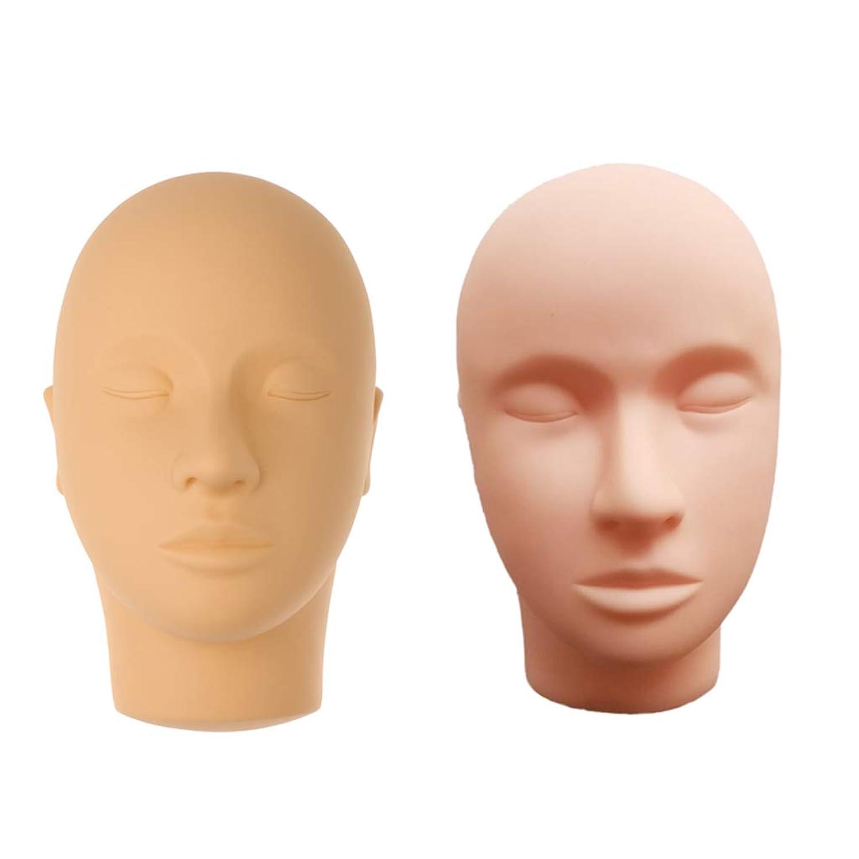患者覚醒すずめPerfeclan マネキンヘッド 肌色 シリコーン 練習 メイクアップ まつげ エクステ マッサージ練習