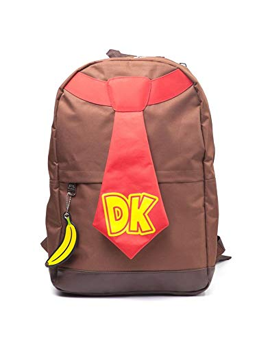 Super Mario Mochila Donkey Kong, Brown, 35,8 x 35,3 x 6,1 cm