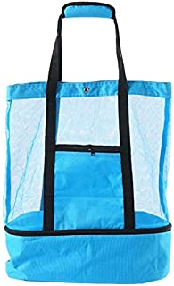 TOOGOO Outdoor Portable Picnic Bag Camping BBQ Insulation Ice Pack Multifunction Fresh Package Travel Blue Bag Beach Bag