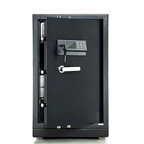 Cofre de segurança Caixa de dinheiro eletrônico digital de segurança, cofre doméstico com chaves e fechadura digital para joias Dinheiro Documentos de valor joias (cor: cinza escuro, tamanho: 44x55x98