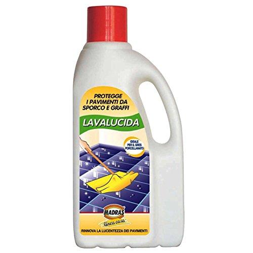 LAVALUCIDA LT.1 MADRAS DETERGENTE PROTETTIVO LUCIDANTE PER PAVIMENTI