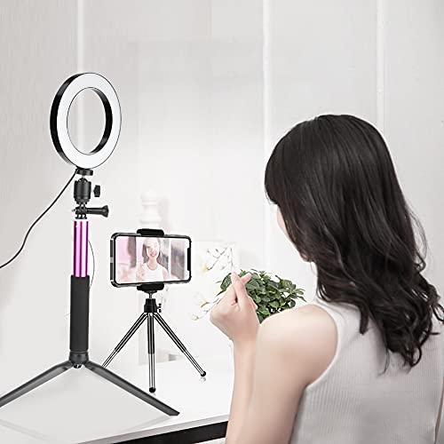 01 Luce ad Anello dimmerabile, Comoda da Usare Luce ad Anello a LED per Live for Photography for Beauty for Photo Studio