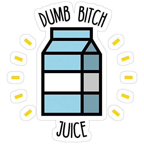 Jess-Sha Store 3 PCs Stickers Dumb Bitch Juice Sticker for Laptop, Phone, Cars, Vinyl Funny Stickers Decal for Laptops, Guitar, Fridge
