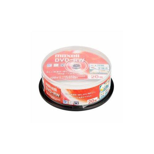 maxell 録画用DVD-RW 標準120分 1-2倍速 ワイドプリンタブルホワイト スピンドルケース入り 2 DW120WPA.20SP