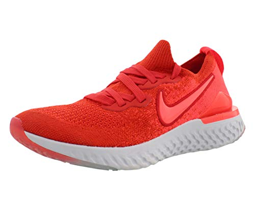 Nike Epic React Flyknit 2 Boys Shoes Size 7, Color: Chile Red/Bright Crimson