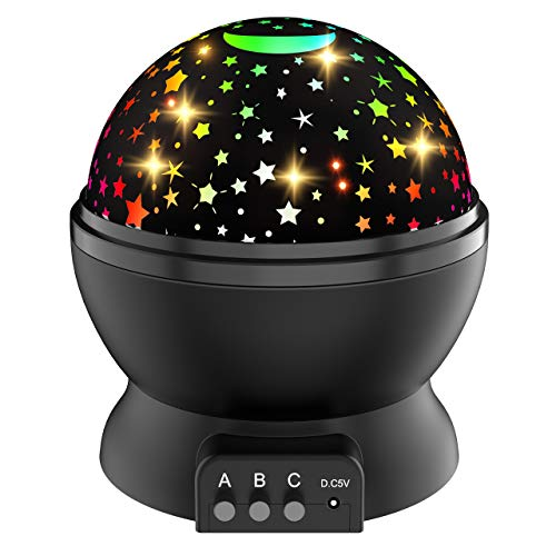 Night Light for Kids, Rotating Light Projector for Kids Star Night Light Projector for Kids Quiet Night Lights for Boys Age 2-10 Room Light Projector for Bedroom Gifts for 2-10 Year Old Boys Girls