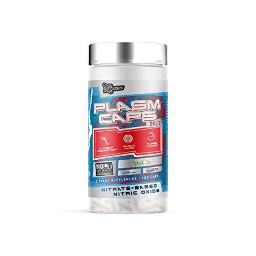 Glaxon Plasm Caps 24/7, Non-Stimulant Pre-Workout, Nitric Oxide, Improve, Improves Endurance, Blood Flow, Vasodilation