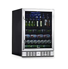 [Spacious Interior] 5.3 cubic foot spacious beverage center holds up to 177 cans or 92 bottles [Front-Facing Vents] Front venting compressor technology gives you the option to build into cabinetry or run freestanding. Customized light settings: 100%,...