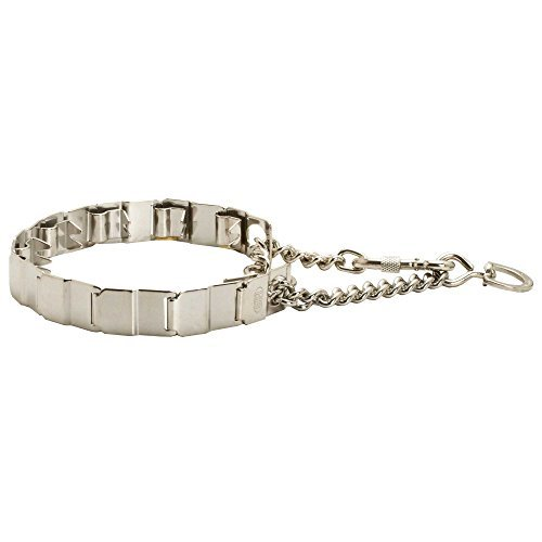 Herm Sprenger Stainless Steel Neck Tech Sport Dog Collar for Siberian Husky with Carabiner, Swivel and Snap Hook - 19 inches
