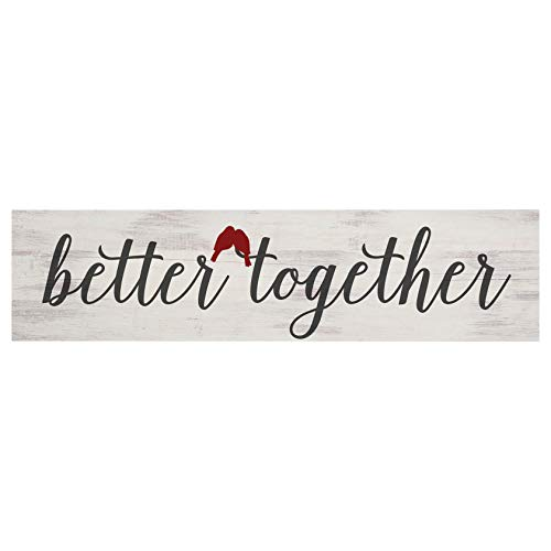 P. Graham Dunn Better Together Red Birds 6 x 1.5 Pine Wood Little Toothpick Sign