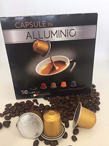 250 capsule Nespresso Alluminio compatibili Espresso Intenso