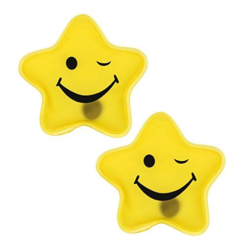 Antineve termico Firebag Scaldamani Set-giallo stella Smiley-, 2 pezzi